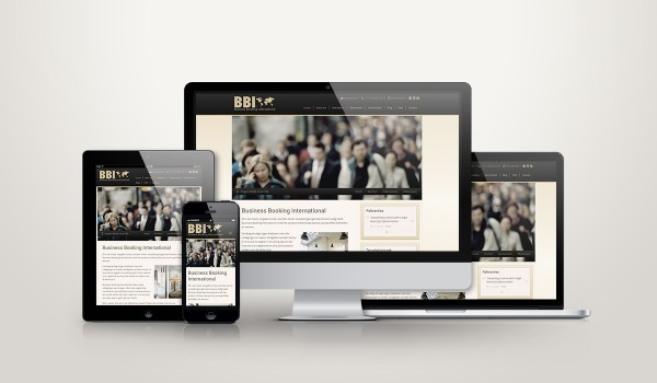 Business Booking International responsive website