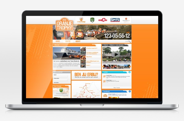 Oranjetrophy webdesign