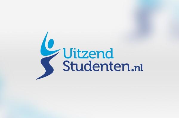 Uitzend Studenten logo ontwerp